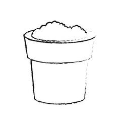 Soil in pot icon image vector