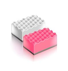 Sponge isolated on white vector