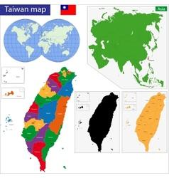 Taiwan map vector image