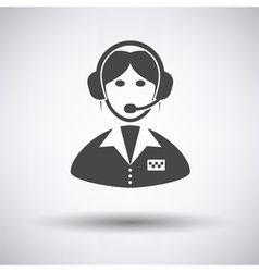 Taxi dispatcher icon vector image vector image