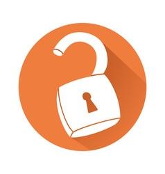 Unlocked padlock vector image vector image