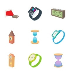 Watch icons set cartoon style vector