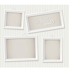 White empty frame hanging on the wall eps 10 set vector