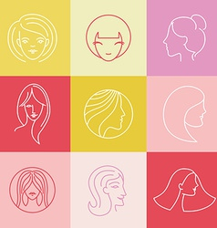 womens logo design elements vector image