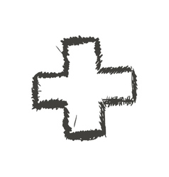 Cross sketch icon shape design graphic vector