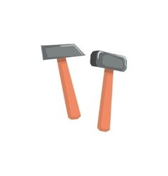 Two hammers item cool colorful vector