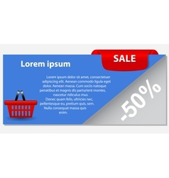 Sale banner with place for your text vector