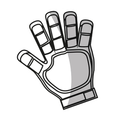 Isolated glove of soccer design vector