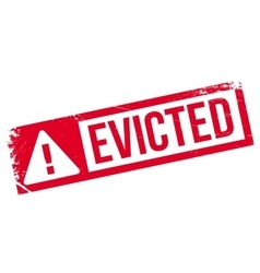 Evicted rubber stamp vector