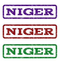 Niger watermark stamp vector