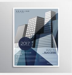 Company business flyer poster brochure design vector