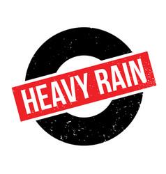 Heavy rain rubber stamp vector