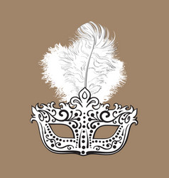 beautifully decorated venetian carnival mask with vector image