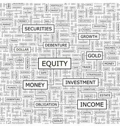 EQUITY vector image