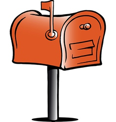 Hand-drawn of an mailbox vector