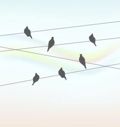 birds background vector image