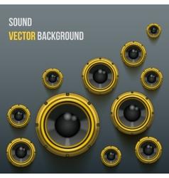 Orange Sound Load Speakers on dark background vector image