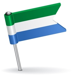 Sierra leone pin icon flag vector