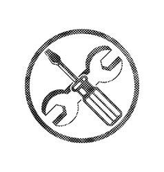 Repair icon with wrench and screwdriver symbol vector
