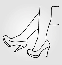 Legs of a woman wearing high heels vector