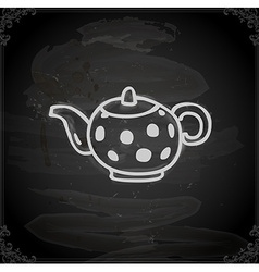 Hand drawn kettle vector