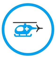 Emergency helicopter rounded icon vector