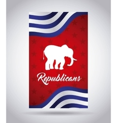 Republican party design vector