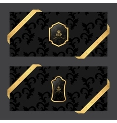 Set of two horizontal banners on a dark background vector