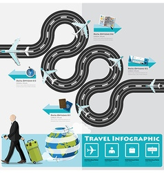 Travel And Journey Business Infographic vector image