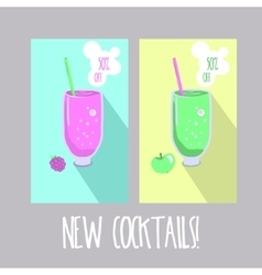 Oxygen cocktail icon with straw vector