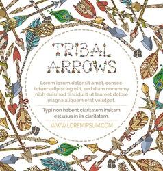Ethnic arrows round frame vector