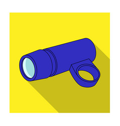 a flashlight that clings to the steering wheel to vector image vector image
