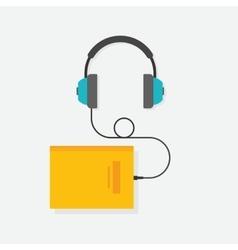 Audio book concept vector image vector image