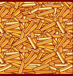 background pattern with french fries vector image vector image
