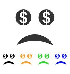 Bankrupt smile icon vector
