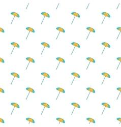 Beach umbrella pattern cartoon style vector image