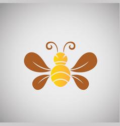 Bee design on background vector