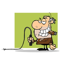 Boss With A Whip In His Hand vector image vector image