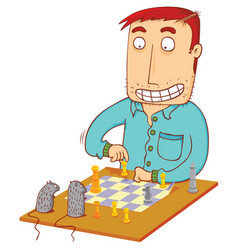 Chess time with mouses vector