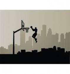 Cityscape slam dunk vector
