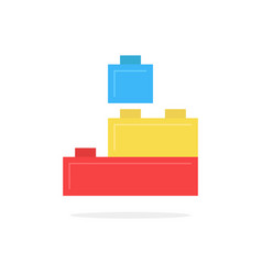 colored building block toy with shadow vector image