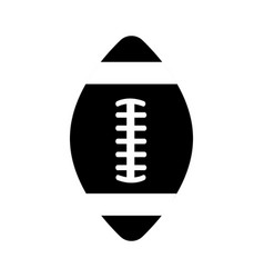 Contour american football tool to play the sport vector