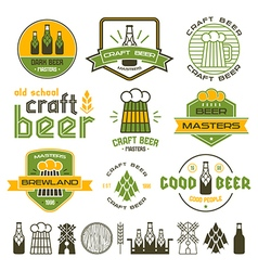 Craft beer brewery emblem vector