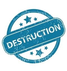 Destruction round stamp vector