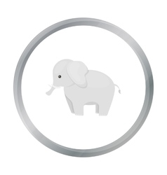 Elephant icon cartoon singe animal icon from the vector