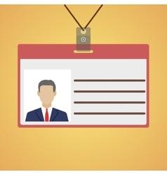 Flat design name tag badge template vector image