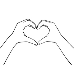hand making heart sign Female vector image