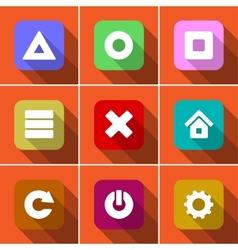 Icon set in flat design vector