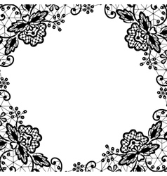 lace frame on white background vector image vector image