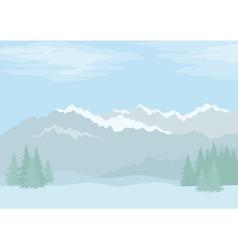 Landscape mountains vector image vector image